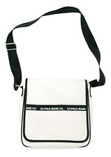 Polo Jeans Co. Vintage Unisex White Pink Black Bag Messenger Crossbody Flag VGUC