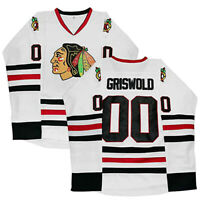 Clark Griswold #00 Hockey Jersey X-Mas Christmas Vacation The Movie Jersey White