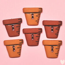 DRESS IT UP Buttons Flower Pots 800 - Embellishments Garden
