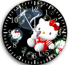 Hello Kitty Frameless Borderless Wall Clock Nice For Gifts or Decor W06