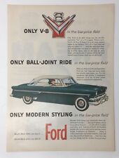 Original Life Magazine 1954 FORD V-8 Only Ball-Joint Ride 2 Door Crestline Green