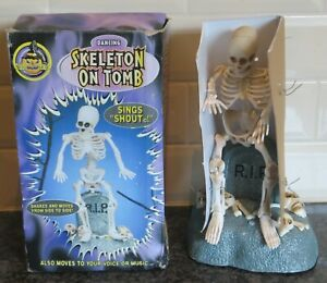 1998 Gemmy Dancing Skeleton on Tomb Brand New/Boxed      Please Read Description