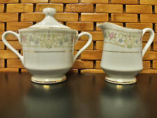 Crescent China by Ranmaru-Roxburry Pattern 5701 Creamer & Sugar Bowl & Lid