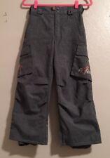 "EUC Kids Insulated Ski Pants Burton Size S (waist fits 26-28"") 23"" Inseam Zipper"