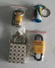 Vintage Collectible Keychains of Kodak, Kodak Pro foto, Agfa, QSS New Old Stock