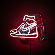 "Air Jordan 1 Shoes Led Neon Light Sign HypeBeast ""Chicago"""