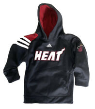 NBA Miami Heat Adidas Boys Small 8 SM S Black Pullover Hoodie Youth Jacket