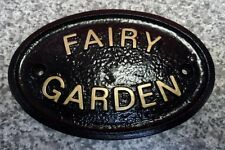 FAIRY GARDEN - HOUSE DOOR PLAQUE WALL SIGN GARDEN