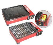 BBQ GASGRILL tragbarer Butangas Camping-Grill inkl. Grillplatte und Zubehör
