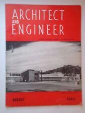 Aug 1953 Architect and Engineer San Francisco CA San Pablo Modern Design 1950s