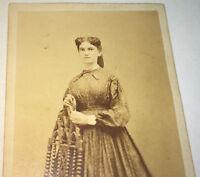 Antique American Civil War Era Fashion Beauty! Philadelphia, PA CDV Photo! Stamp