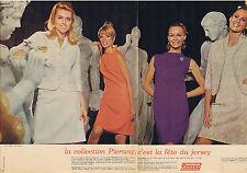 PUBLICITE ADVERTISING 094 1967 PIERANY c'est la fête du Jersey (2 pages)