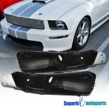For 2005-2009 Ford Mustang Front Bumper Lights Signal Lamps Black