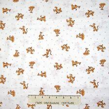 Winnie the Pooh Nursery Baby Fabric - Tigger Toss White - Camelot YARD