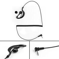 5x 3.5mm Listen Only G Shape Earpiece Headset For Motorola Radio Speaker Mic UE