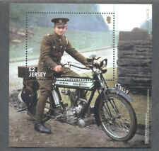 Jersey World War I mnh m/s-Motorcycle Despatch Rider-Motorbikes-military-2018