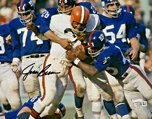 Cleveland Browns Jim Brown Signed 8 x 10 Photo - Fanatics Holo