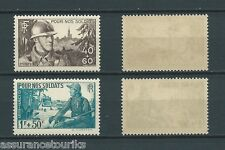 FRANCE - 1940 YT 451 à 452 - TIMBRES NEUFS** LUXE