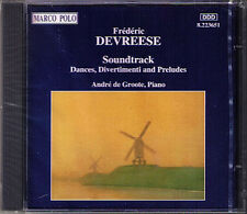 Frederic DEVREESE b.1929 Soundtrack Dance Divertimenti CD André de Groote Piano