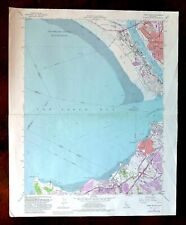 Mare Island California Original USGS Topographic Map 1959 Vallejo Richmond Topo