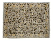 """Hand Knotted Pure Silk 3D Floral Rug 10'2"""" X 7'11"""""""
