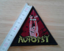 AUTOPSY woven Patch Entombed Unleashed Bolt Thrower Pestilence Asphyx Dismember