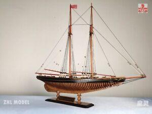 American Cup Bluenose FULL RIB POF Sailboat 1:72 730MM Wooden Ship Model Kit
