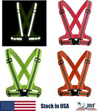 Green/Orange/Red High Visibility Reflective Safety Vest Belt Gear Safe Night