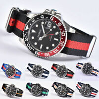 40mm GMT automatic watch PARNIS black dial GMT Sapphire glass date Luminous