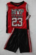 NEW Boys 2 piece Set Size 4 Mesh Tank Top Shirt Shorts Outfit Red MVP Sports