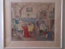 Mama Rabbit And Family Framed Print (Beatrix Potter Like)