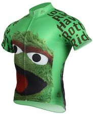 Oscar the Grouch Men's Full Zip Summer Cycling Jersey Size Med NEW