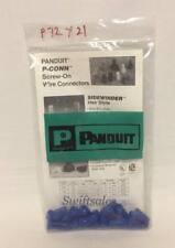 Panduit P-CONN Wire Connectors - Python Nut Style - Blue P72 - 21 Pieces