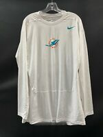MIAMI DOLPHINS GAME USED DRI-FIT LONG SLEEVE COMPRESSION SHIRT 4XL