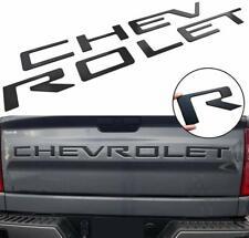 Black Chevrolet Letters Insert Emblem Silverado 1500 2500 2019 3500 Tailgate