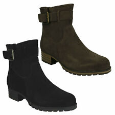MARANA AMBER CLARKS LADIES ZIP UP SUEDE HEELED CASUAL WOMENS ANKLE BOOTS SIZE
