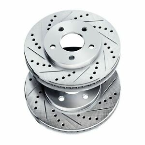 Brake Rotors [2 Front] POWERSPORT *DRILLED & SLOTTED* DISC BJ13811