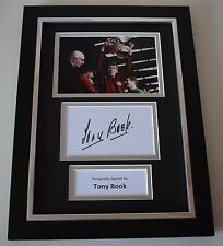 Tony Book Signed A4 FRAMED photo Autograph display Manchester City Football COA