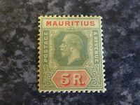 MAURITIUS POSTAGE REVENUE STAMP SG240 5R LIGHTLY-MOUNTED MINT