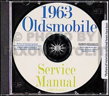 1963 Oldsmobile Riparazione Manuale CD Olds Super 88 98 Jetfire Starfire Dynamic