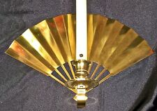 LOT OF 2 ~ PartyLite RARE  RETIRED  FAN SHAPED  BRASS  WALL SCONCE  12 x 8.5""