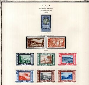 Italy 1932-33 Airmails with Zepps