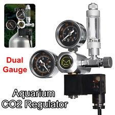 Aquarium System Dual Gauge CO2 Pressure Regulator Bubble Counter Solenoid Valve