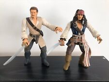 "Disney Pirates Of The Caribbean 6"" Jack Sparrow & Will Turner Figures"