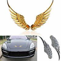 1Pair 3D Car Sticker Alloy Metal Angel Hawk Wings Emblem Badge Decal Car Styling