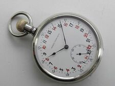 Antique Old Swiss Georges Favre Jacot Locle 24H Very Rare Pocket Watch Enamel D.