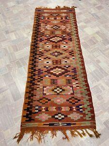 Tappeto Kilim Persiano vecchio annodato a mano misura 203x75