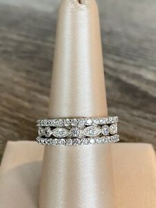 Ross Simons Sterling silver stackable eternity bands Ring Set Of Three!