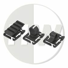 "AIRSOFT MOLLE 1"" / 25mm WEBBING ADAPTERS SET BLACK CLIP TORCH RAIL RIG VEST"