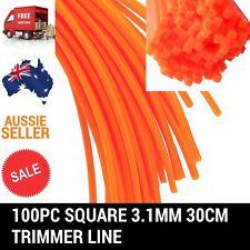 100PC SQUARE 3.1MM 30CM TRIMMER LINE WHIPPER SNIPPER BRUSH CUTTER BRUSHCUTTER